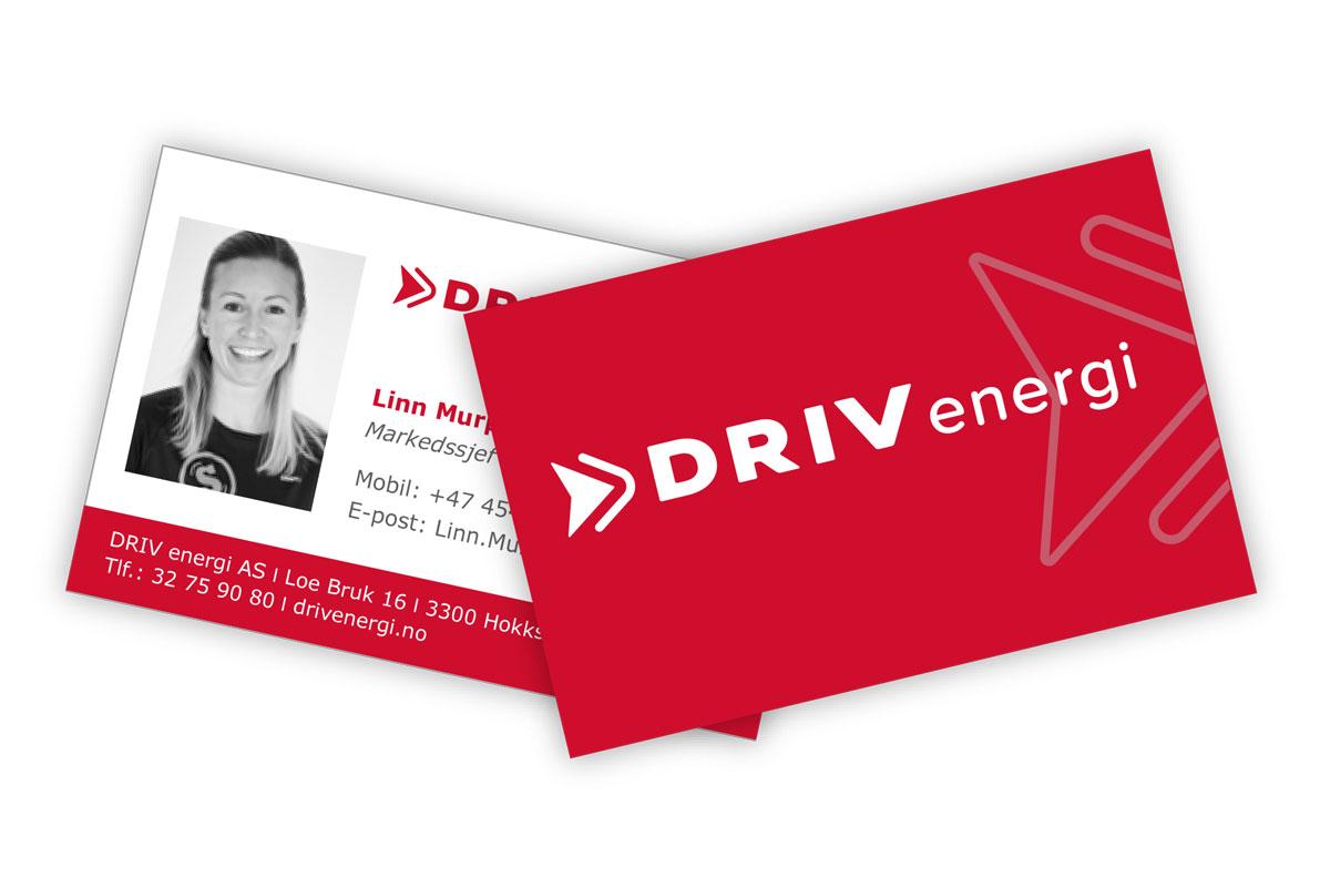 DRIV energi visittkort