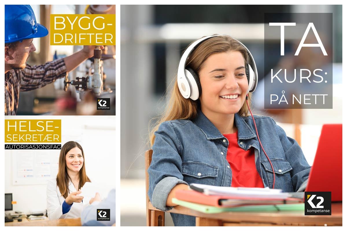 K2 kompetanse annonser for sosiale medier