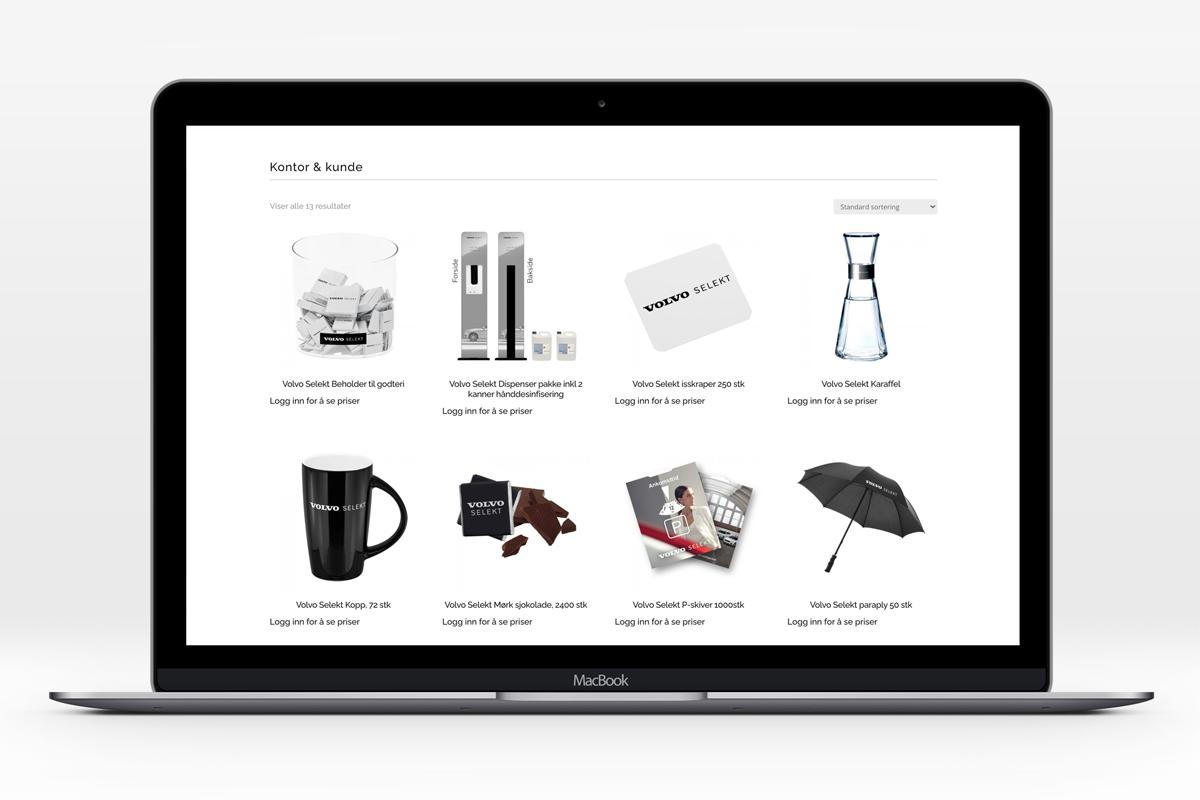 Volvo Car Norway webshop med diverse profilartikler