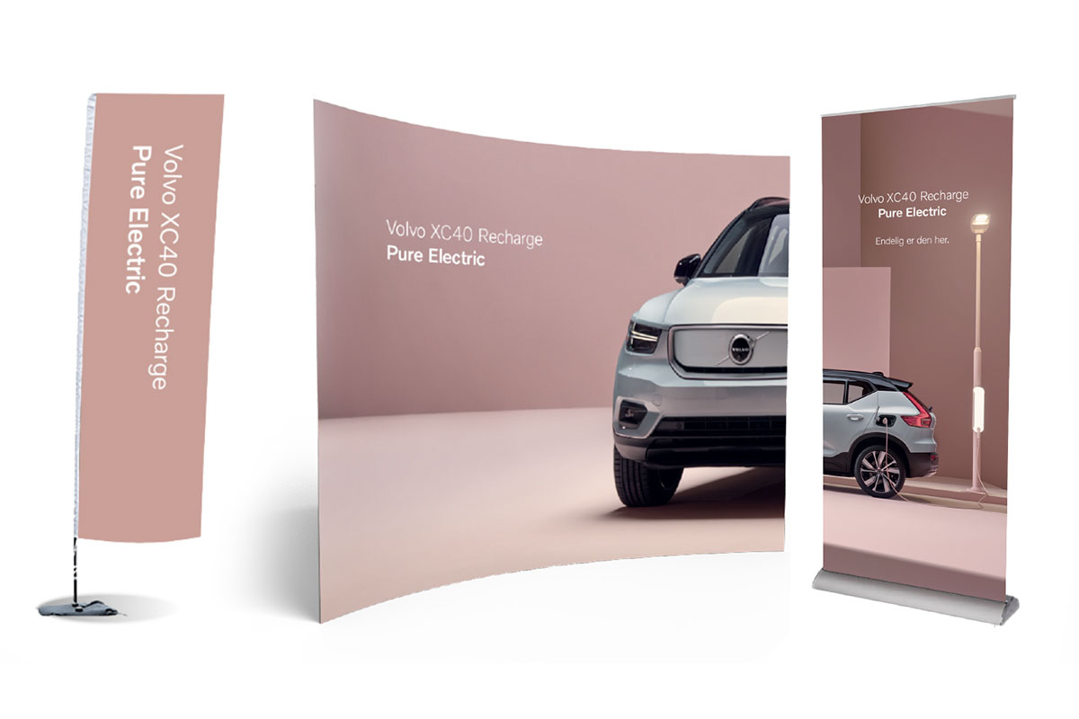 Volvo XC40 recharge diverse bannere