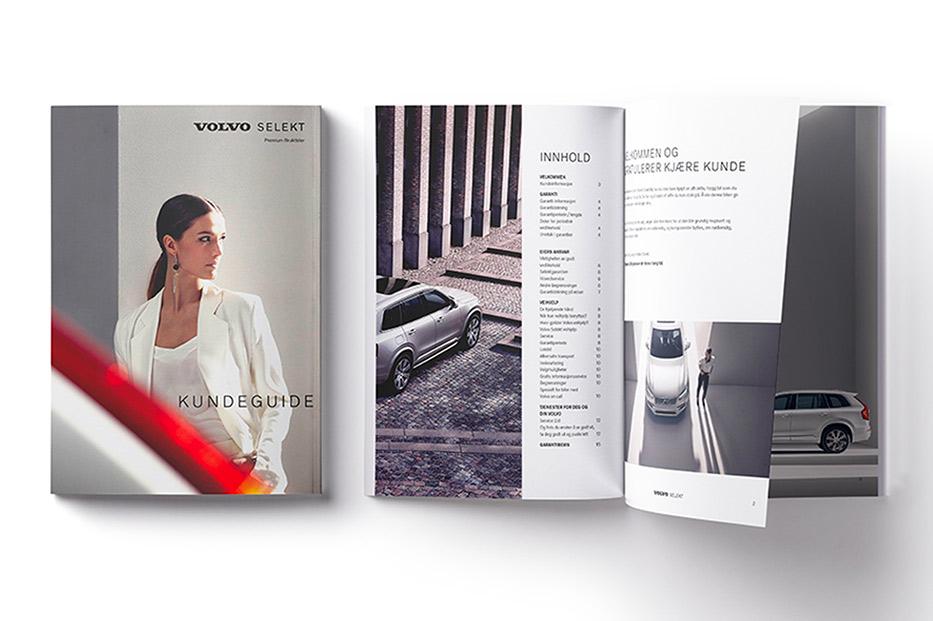 Volvo Selekt kundeguide brosjyre vises på forskjellige sider